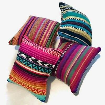 Oversized PAIR of Mixed Mexican Fabric Pin Cushions. From Australia