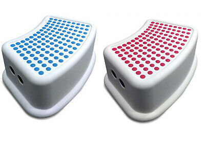 Addis Kids Bathroom Step Stool Foot Stool Booster Anti Slip White Red Teal