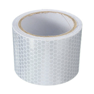 3M Silver White Car Reflective Safety Warning Conspicuity Roll Tape Film Sticker