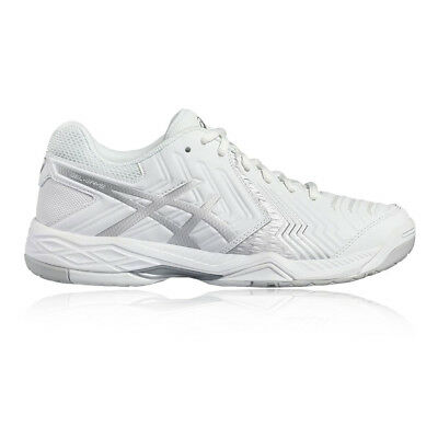 new product 78729 a562c Asics Gel Game 6 Homme Blanc Tennis Chaussure De Sport Baskets Escarpins