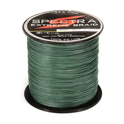 500M Length Blackish Green Super Strong PE Plastic Braided Sea Fishing Line