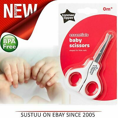Tommee Tippee Essentials Basics Baby Nail Scissors│Designed For Little Nails-0m+
