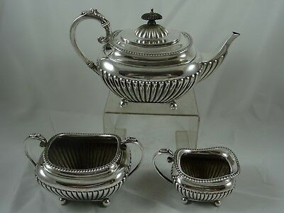 STUNNING , solid silver VICTORIAN TEA SET, 1894, 953gm