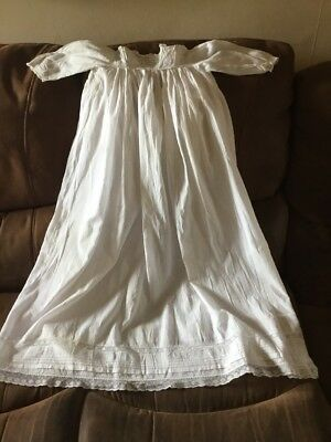 Beautiful Babies Victorian Cotton Christening/Baptism Gown Unisex Up to age 6m