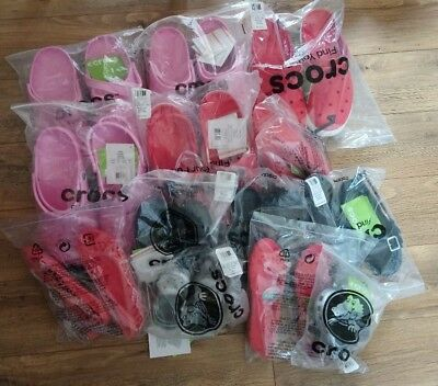 Job Lot crocs sandals summer holiday kids girls men's womens 13 pair