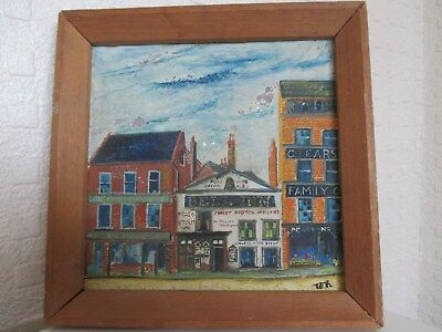 Small Mid 20th Century Impressionist Oil Painting of a Street Scene Signed Tex