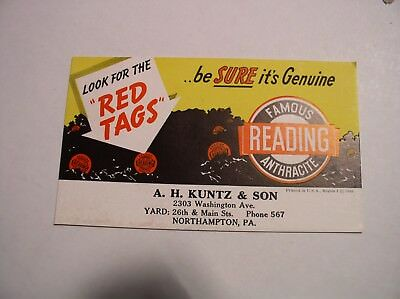 Reading PA Anthracite Coal Ink Blotter