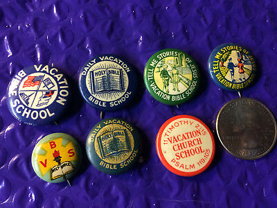 Vintage Christian Religion Pin Lot Vacation Bible School