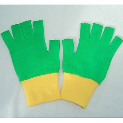 Pokemon Ash Trainer Halloween costume Gloves Green/Yellow Choose Your Size