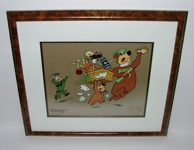 "Framed And Matted Limited Edition Hanna-Barbera Sericel ""do Or Diet"" Yogi Gang"