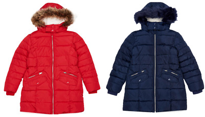 Ex Marks and Spencer Girls School Coat Padded Coat With Stormwear™ Age 3 - 14