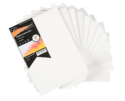High Quality 100% Cotton Wood Blank Canvas Panels Board Oil Acrylic Paint 12 PK