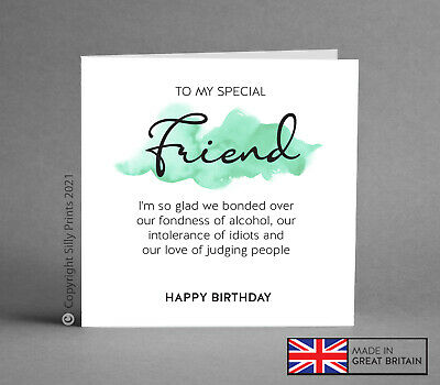 Fabulous Funny Birthday Card Best Friend T Idea Wine Gin Rude Comedy Funny Birthday Cards Online Aboleapandamsfinfo