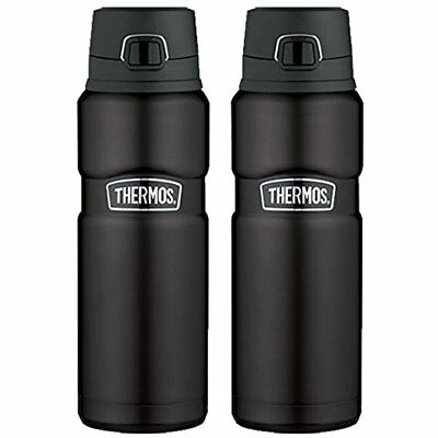 Vacuum Insulated 24 Oz Stainless King Drink Bottle (Matte Black) 2PK