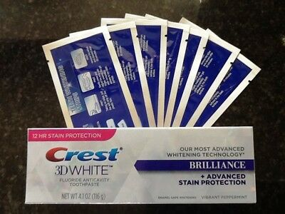 28 Super Teeth Whitening Strips + Crest3D  Whitening Toothpaste Full Size