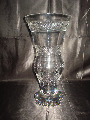 Antique Baccarat Crystal Giverny  Vase. Circa Late 19th Century. 10 LBS