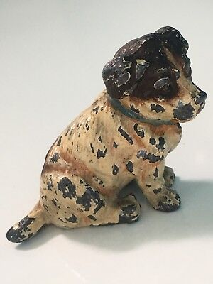 Antique Austrian cold painted spelter  dog figurine Freepost