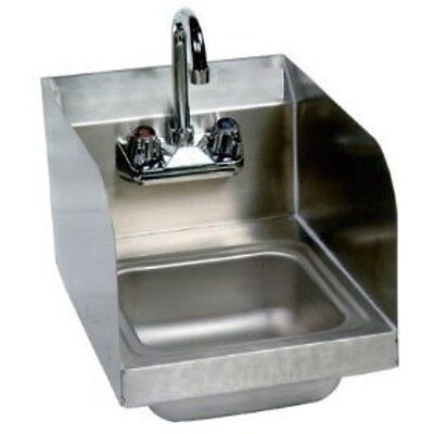 "Stainless Steel Hand Sink With Side Splash - NSF Commercial Equipment 10"" X 14"""