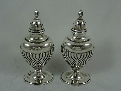 PAIR, VICTORIAN silver PEPPERS, 1898, 65gm
