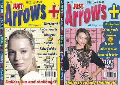Arrow word Books - 2 Book set - 200+ Puzzles - New (Set 174)