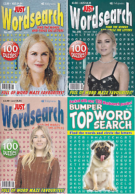 Wordsearch Books - 4 Book set - 400+ Puzzles - New  (Set 167)