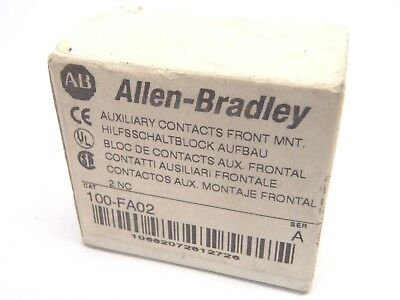 New Allen Bradley 100-FA02 SER. A Front Mount Auxiliary Contact