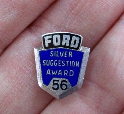 """1956 FORD MOTOR CO. """"Silver Suggestion"""" AWARD LAPEL PIN...L@@K!"""