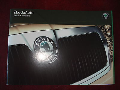Brand New And Genuine Skoda Service History Book For All Petrol And Diesel Cars.