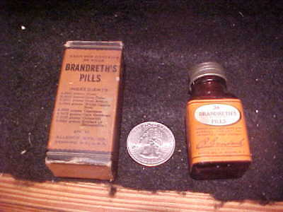 Brandreth's Pills, NOS, bottle/box/papers FREE SHIP