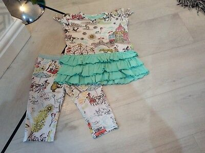 Girls Designer Oilily Outfit Top And Leggings Age 24 Months