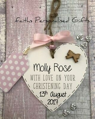 Personalised* Plaque*baby Shower*christening/baptism* Day Keepsake Gift*