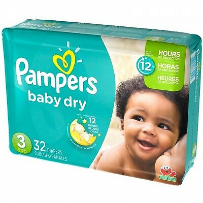 Pampers Baby Dry Diapers Size 3 , 32 Count