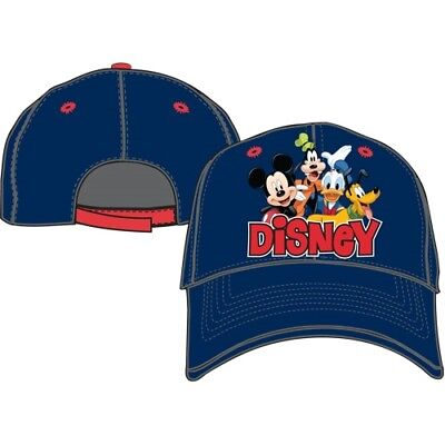 Disney Mickey Mouse Goofy Donald Group Blue Boys Youth Girls Baseball Hat Cap