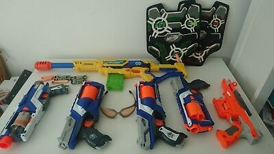 Huge Nerf Gun Bundle, X-Shot, Jackets and Glasses.