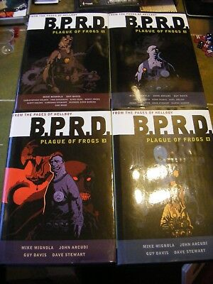 BPRD Plague of Frogs Volume 1 2 3 4 Dark Horse Hardcover B P R D Mike Mignola