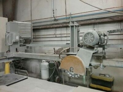 Sawing System Stone Saw 515 with rails, stands and turn table.