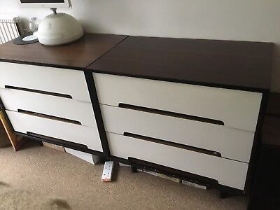 Mid Century 50s 60s Stag C Range Chest Of Drawers by John & Sylvia Reid