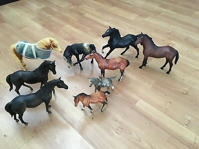 Lot of 9 Vintage 1970 Breyer horses with Misty Chincoteague #20 and #168 foal