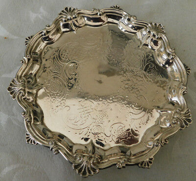 Lovely vintage Georgian London Hallmarked Small Silver 1795 Salver Dish Tray