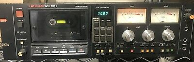 TASCAM 122 MKII Professional Cassette Recorder Deck Working Condition USED