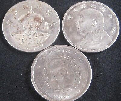 **NOT SILVER** 3 China Novelty Coins **MAGNETIC**