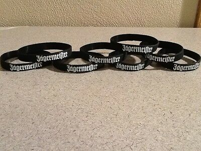 Lot of 8 NEW Jagermeister Rubber Bracelets / Bands Jager Wristbands
