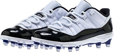 bc1949f626c0b Nike Jordan XI Retro Low TD Football Cleats AO1560-123 White Black Concord  Mens