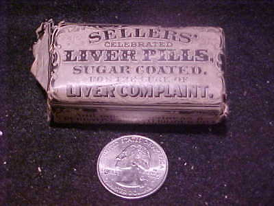 Sellers' Liver Pills, NOS, sugar coated, early 1900's, FREE SHIP