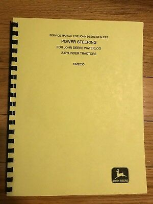 John Deere two Cylinder Power Steering Service Shop Manual SM2050 FREE SHIPPING