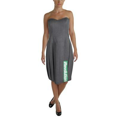 Marc by Marc Jacobs 5815 Womens Gray Wool Pleated Patchwork Casual Dress 6 BHFO