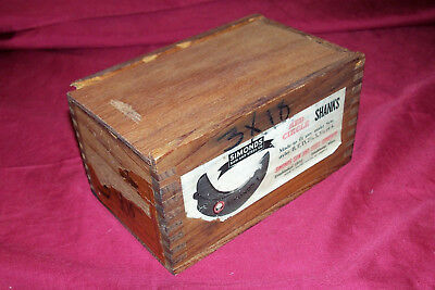 Antique Simonds Saw & Steel Co Shank Blade Vintage Wood Working Wooden Box Mill