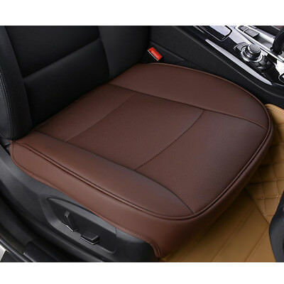 Car Universal PU Leather Deluxe Brown Cover Seat Protector Cushion Front Cover