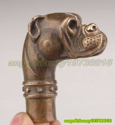 Bronze Dog Statue Old Cane Head Walking Stick Head Handle Accessorie