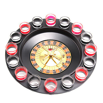 Casino Party Glasses Game Spin & Shot Roulette Wheel Drinking Set for Adults